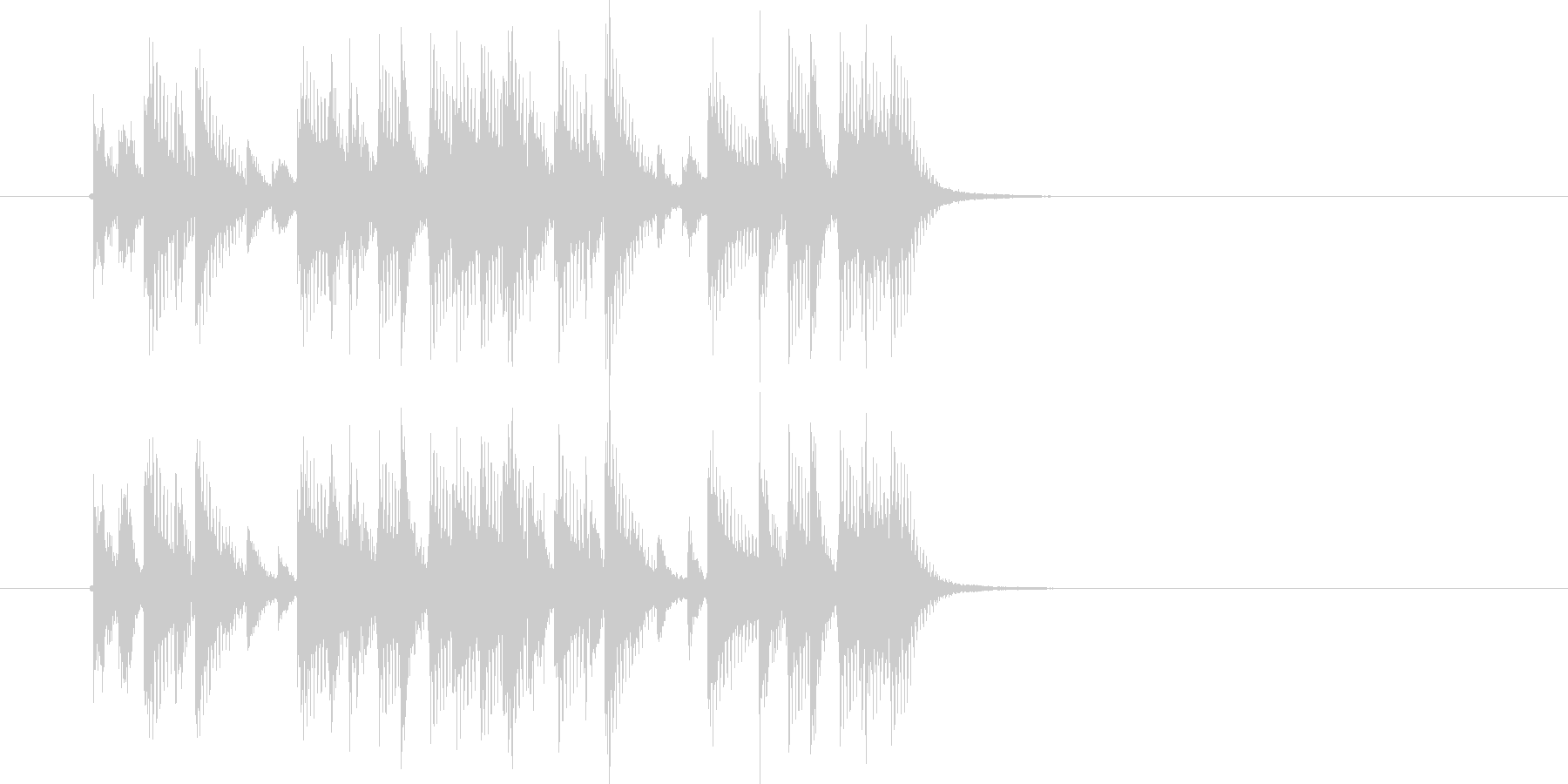 リズミカルでマイナーなテクノジングルの未再生の波形