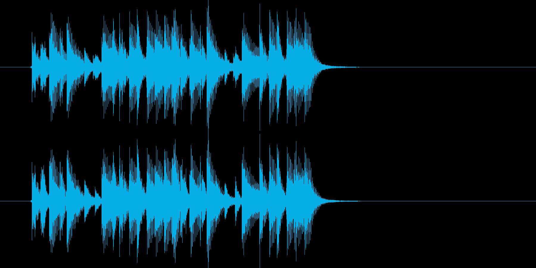 リズミカルでマイナーなテクノジングルの再生済みの波形