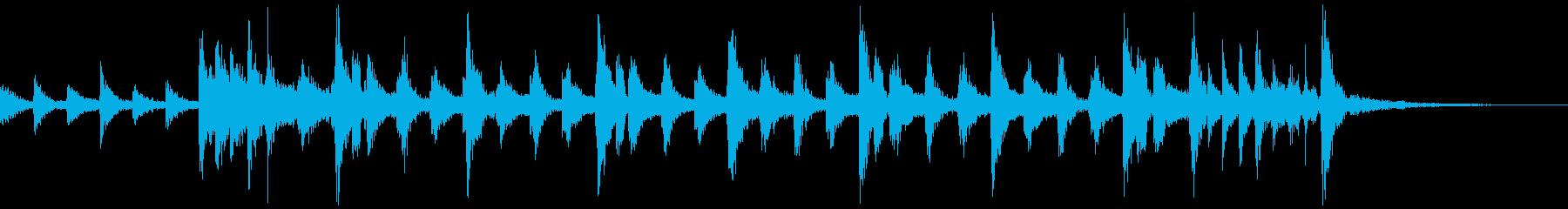 時間通りの緊急リズムパターンの再生済みの波形