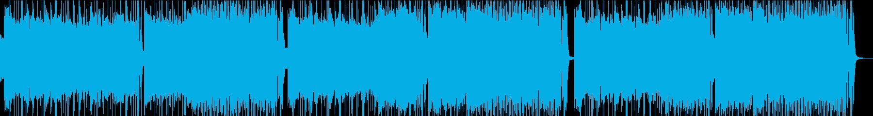ヘビーメタル、メタリカ風リフ、ラウドの再生済みの波形