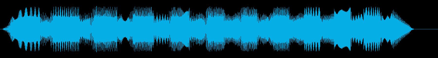 近未来的なUFOの効果音の再生済みの波形