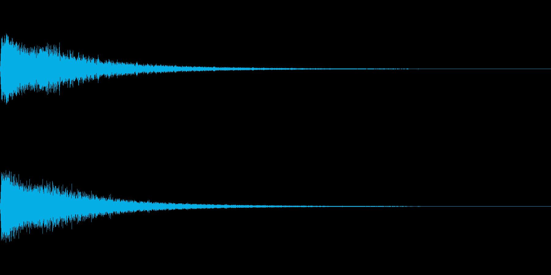 かわいい系 キラキラ系 光る音12の再生済みの波形