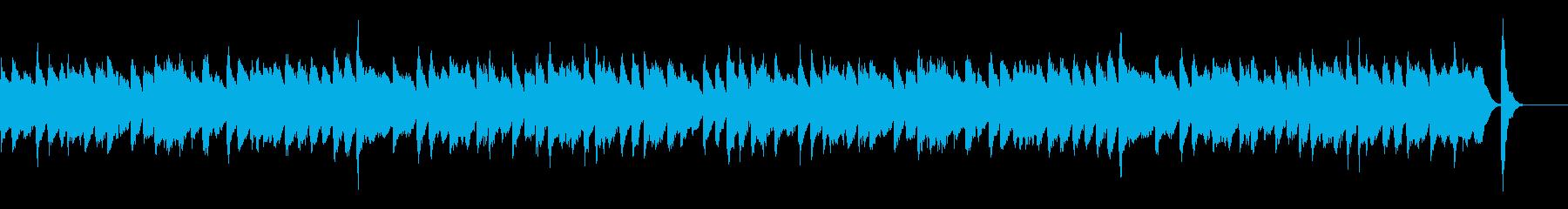 ほんわかとしたラグタイムピアノの再生済みの波形
