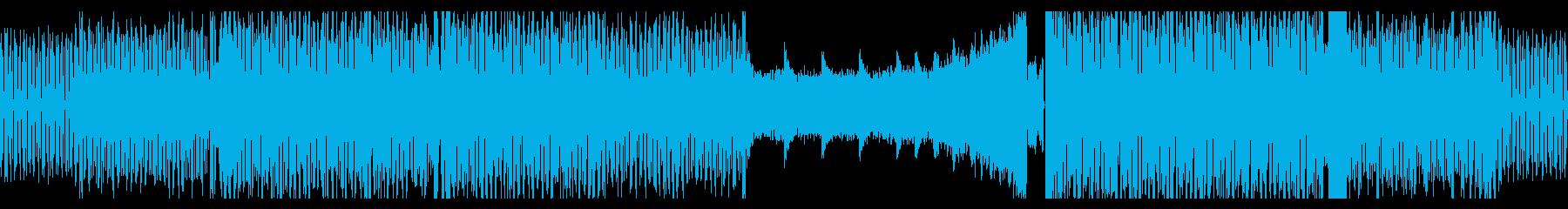 かっこよくてノれる四つ打ち曲(ループ)の再生済みの波形
