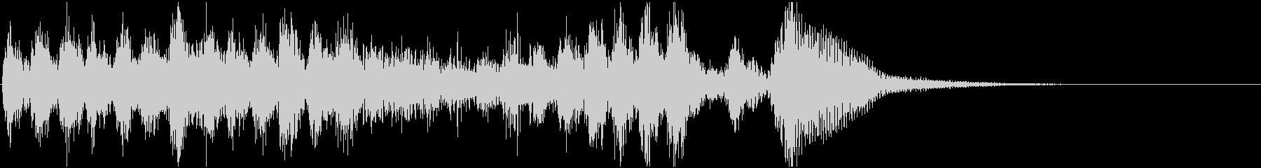 素早いピチカートの楽しげなジングル(2)の未再生の波形