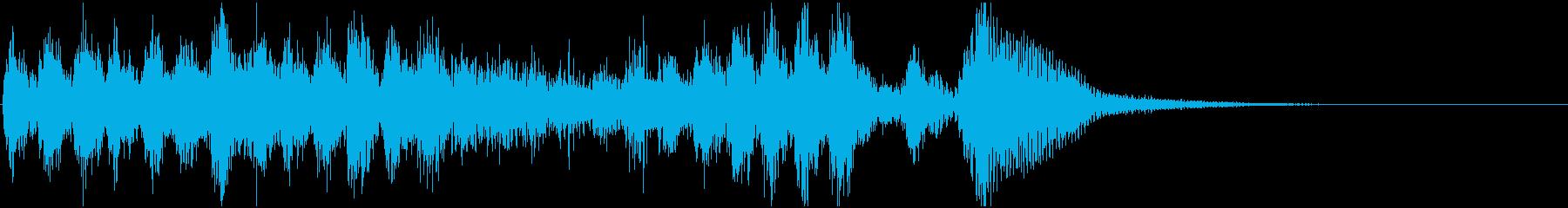 素早いピチカートの楽しげなジングル(2)の再生済みの波形