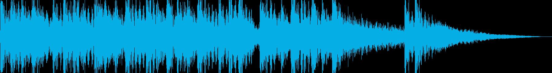 和風ジングルの再生済みの波形