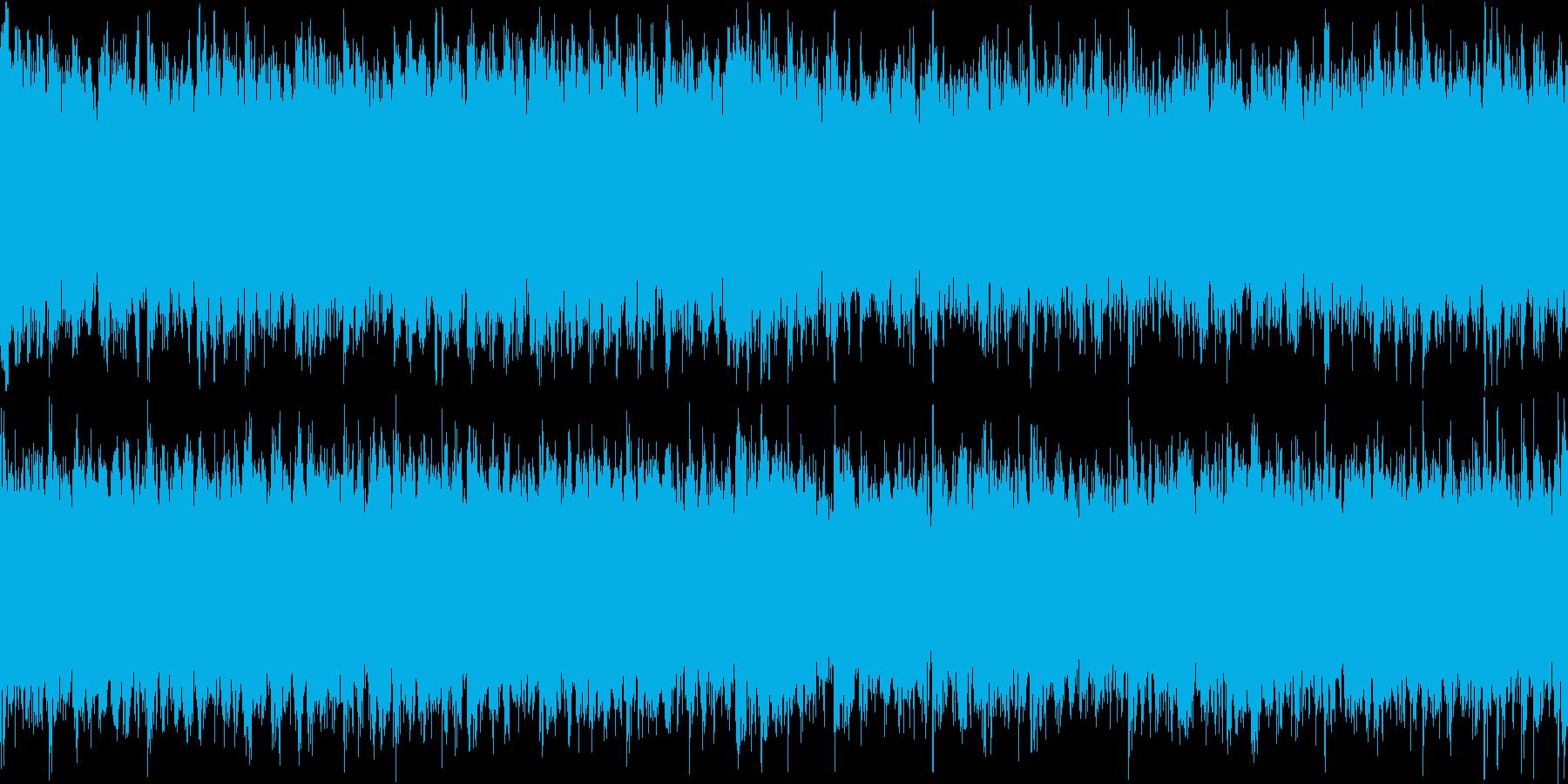 兵士の凱旋時に流れる多幸感溢れる曲の再生済みの波形