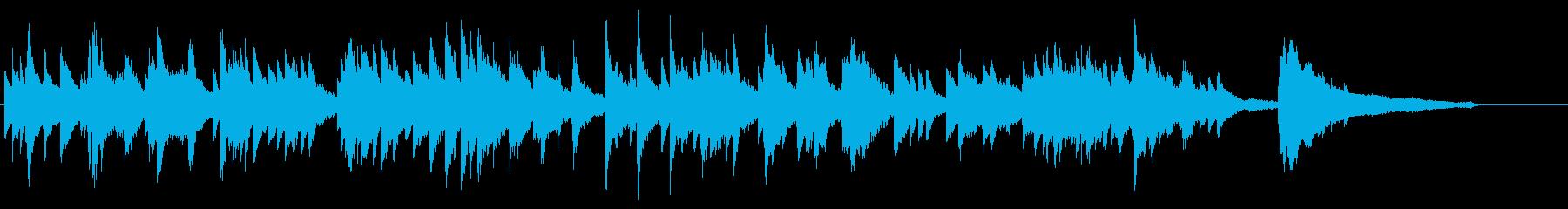 優しく感傷的なピアノ・ソロの再生済みの波形