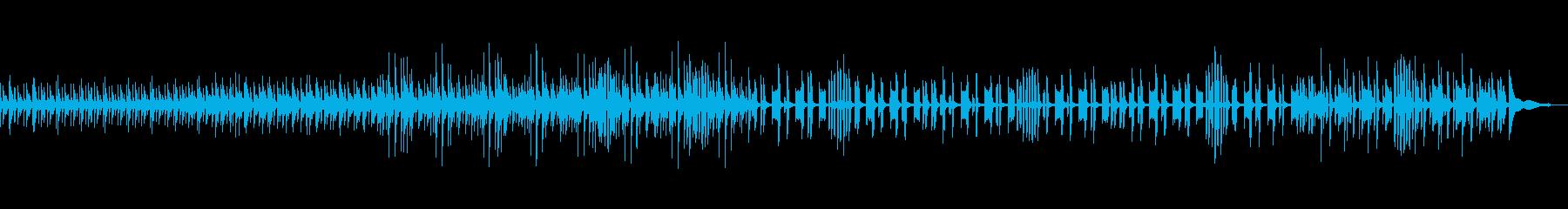 みずみずしく新鮮な明るい曲の再生済みの波形