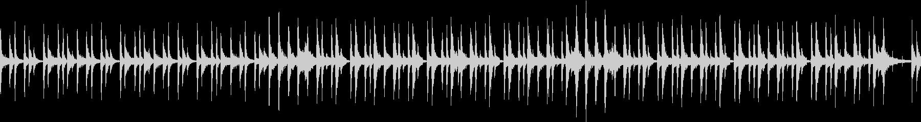 可愛らしいリズムをメインにしたサウンドの未再生の波形