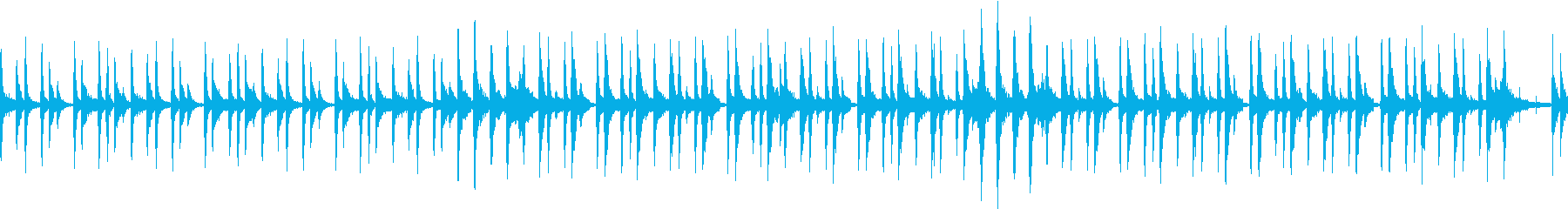 可愛らしいリズムをメインにしたサウンドの再生済みの波形