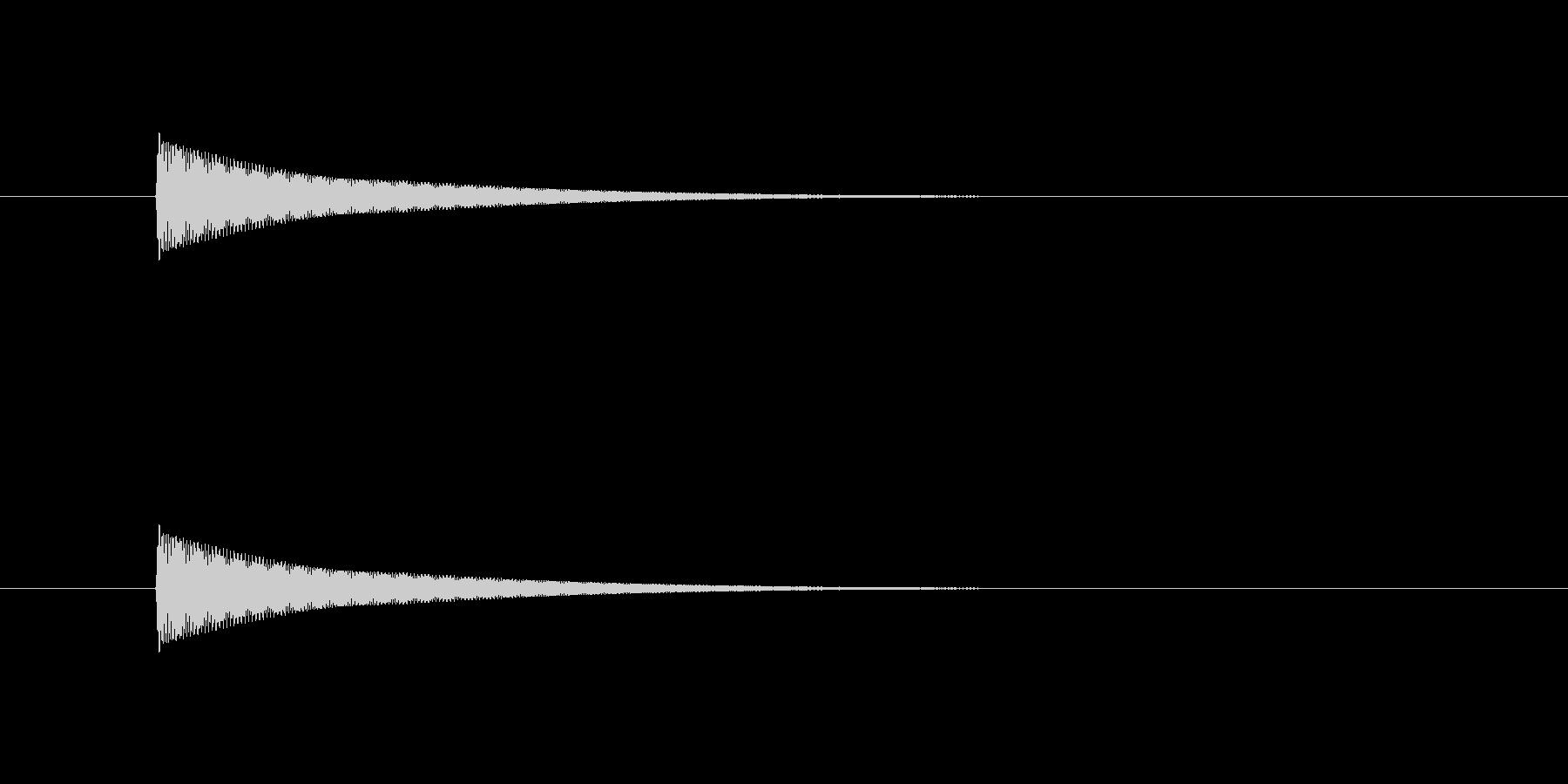 「ポン」というカーソル移動、クリック音の未再生の波形