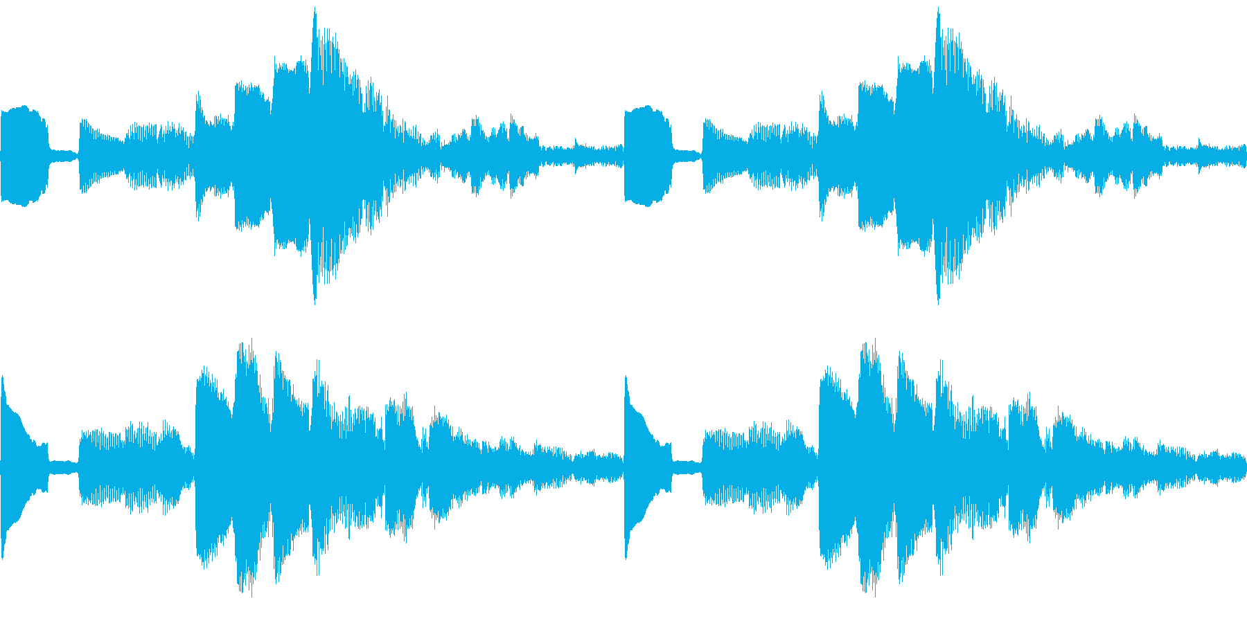 k014 アラーム音(ループ仕様)の再生済みの波形