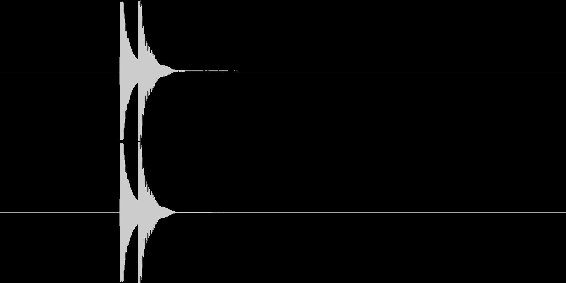 カワイイ系クリック Cの未再生の波形