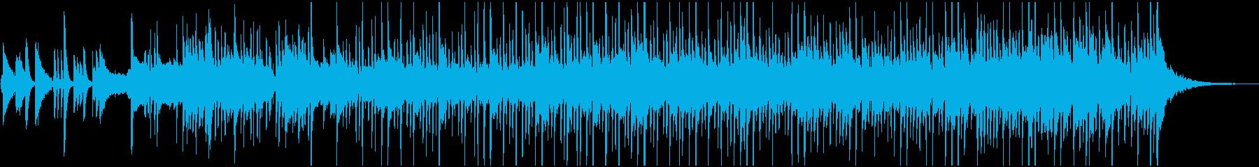 イントロの後、開放的なBGMの再生済みの波形