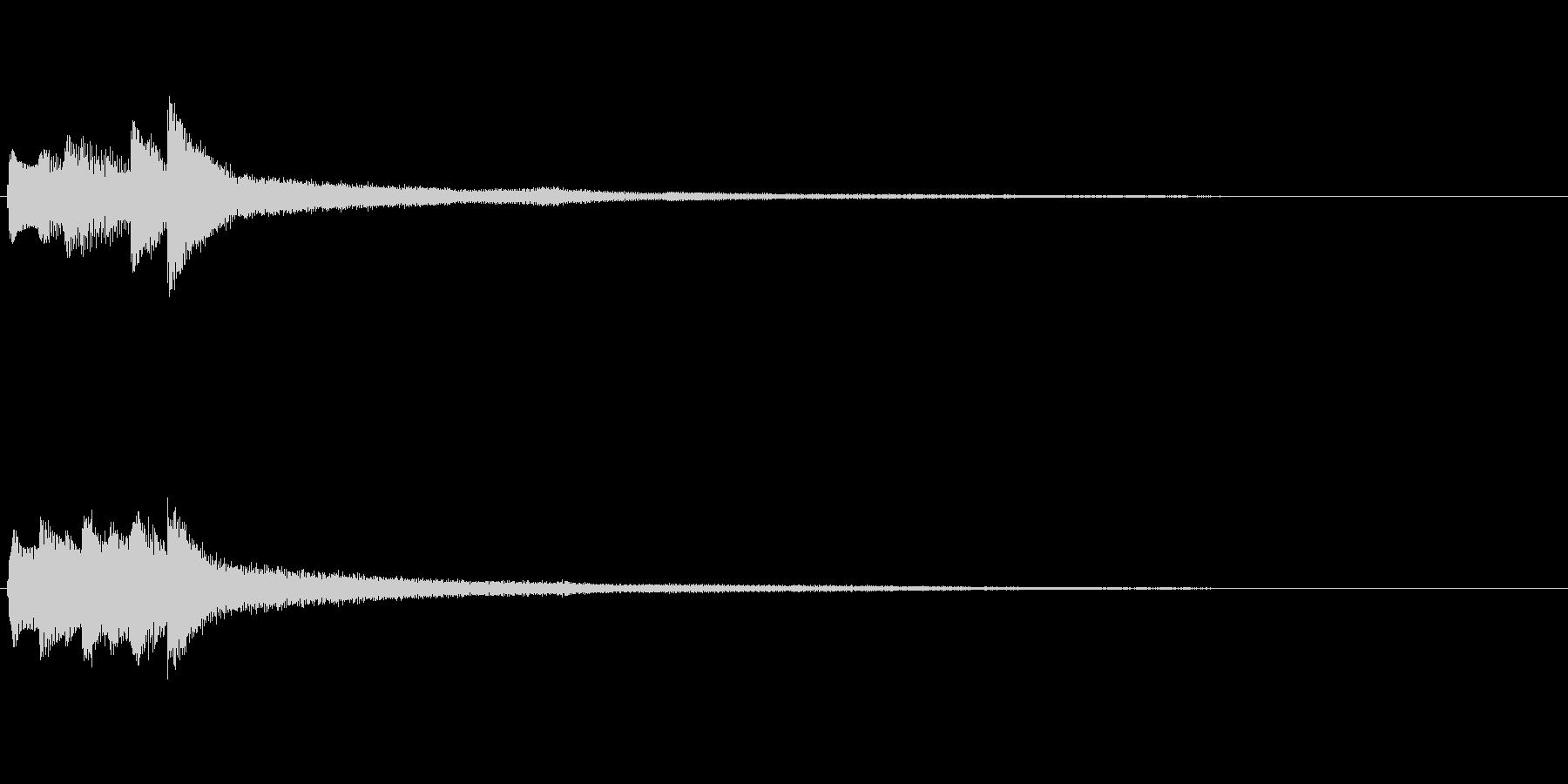 ピアノソロサウンドロゴ 優雅 大人 03の未再生の波形