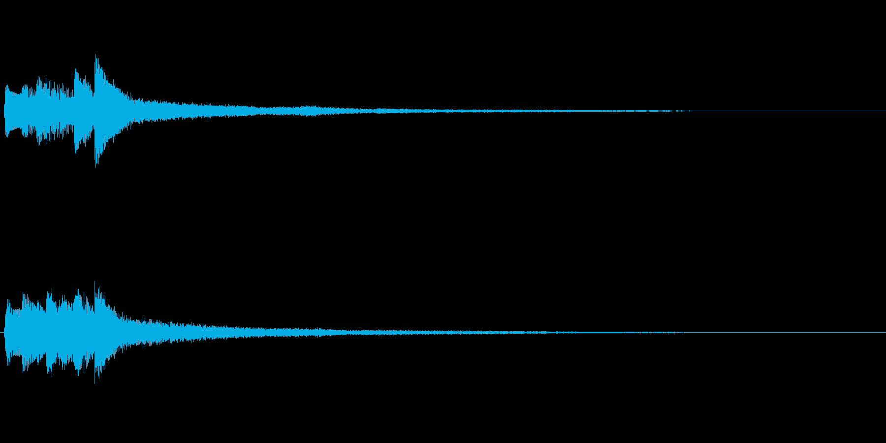 ピアノソロサウンドロゴ 優雅 大人 03の再生済みの波形