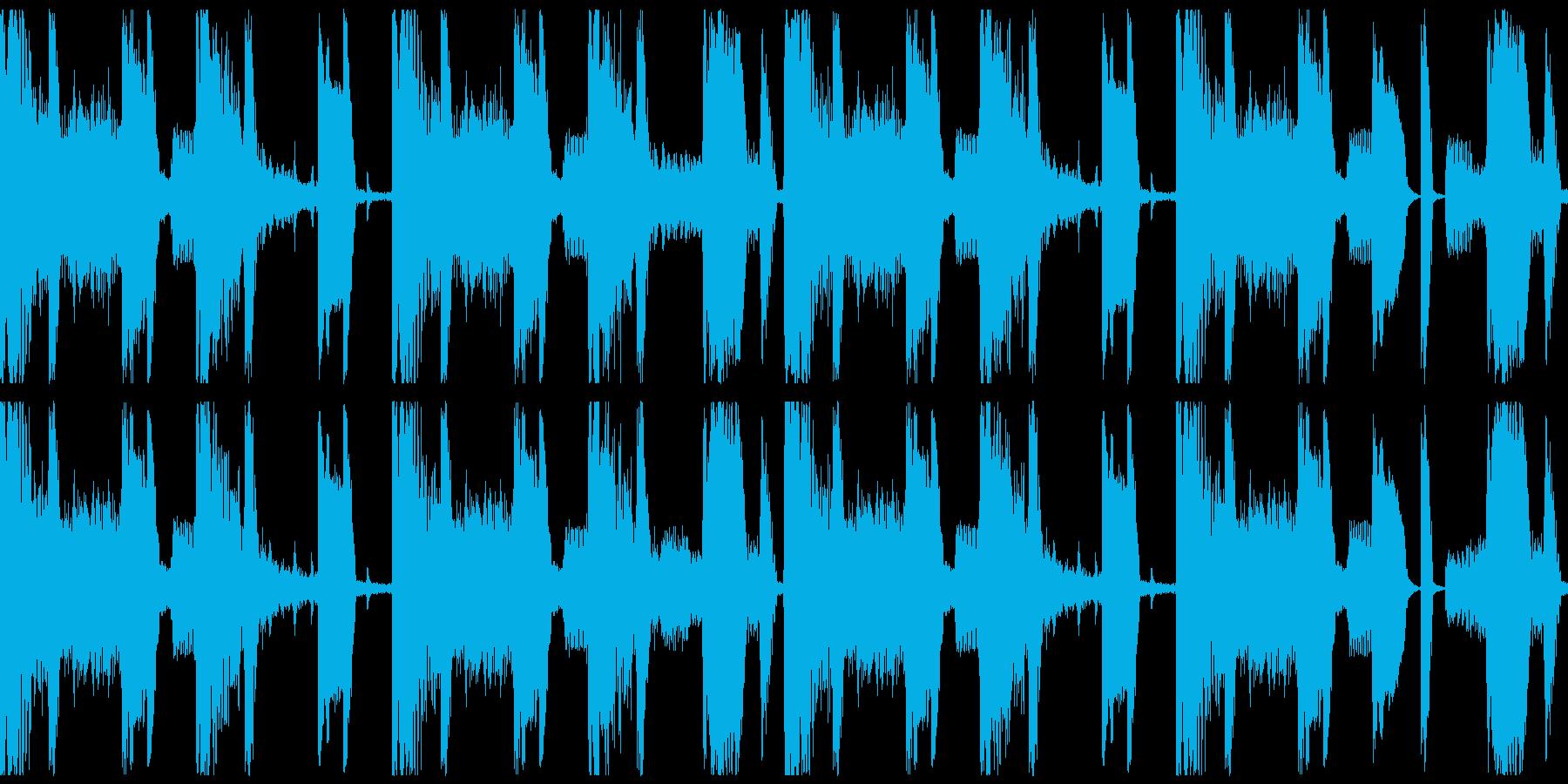 ヒップホップのビートの再生済みの波形