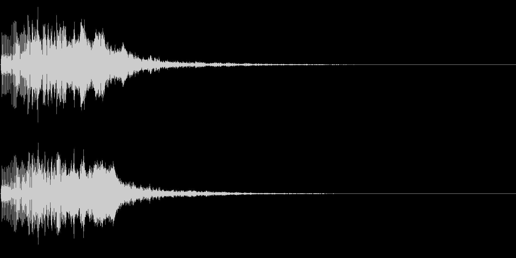 ブリャッ(スコアアップ・カウンター音)の未再生の波形