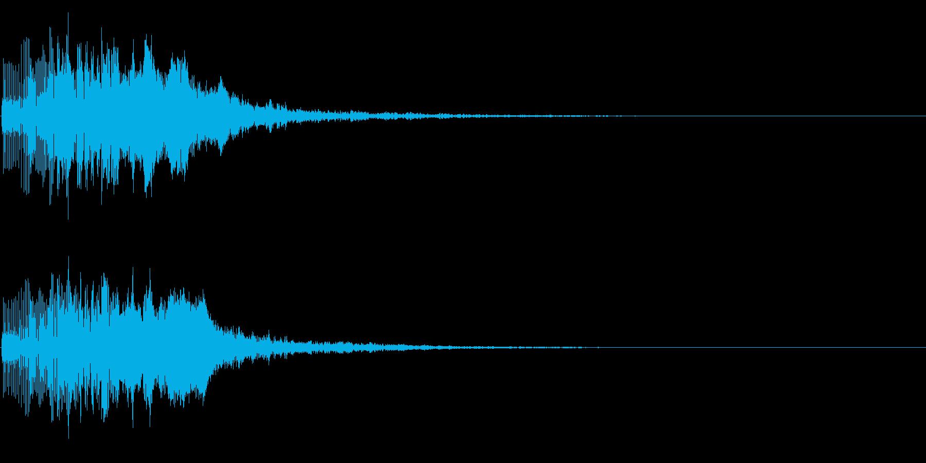 ブリャッ(スコアアップ・カウンター音)の再生済みの波形