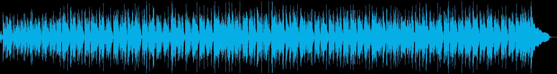 軽快でおしゃれなピアノトリオのボサノバの再生済みの波形