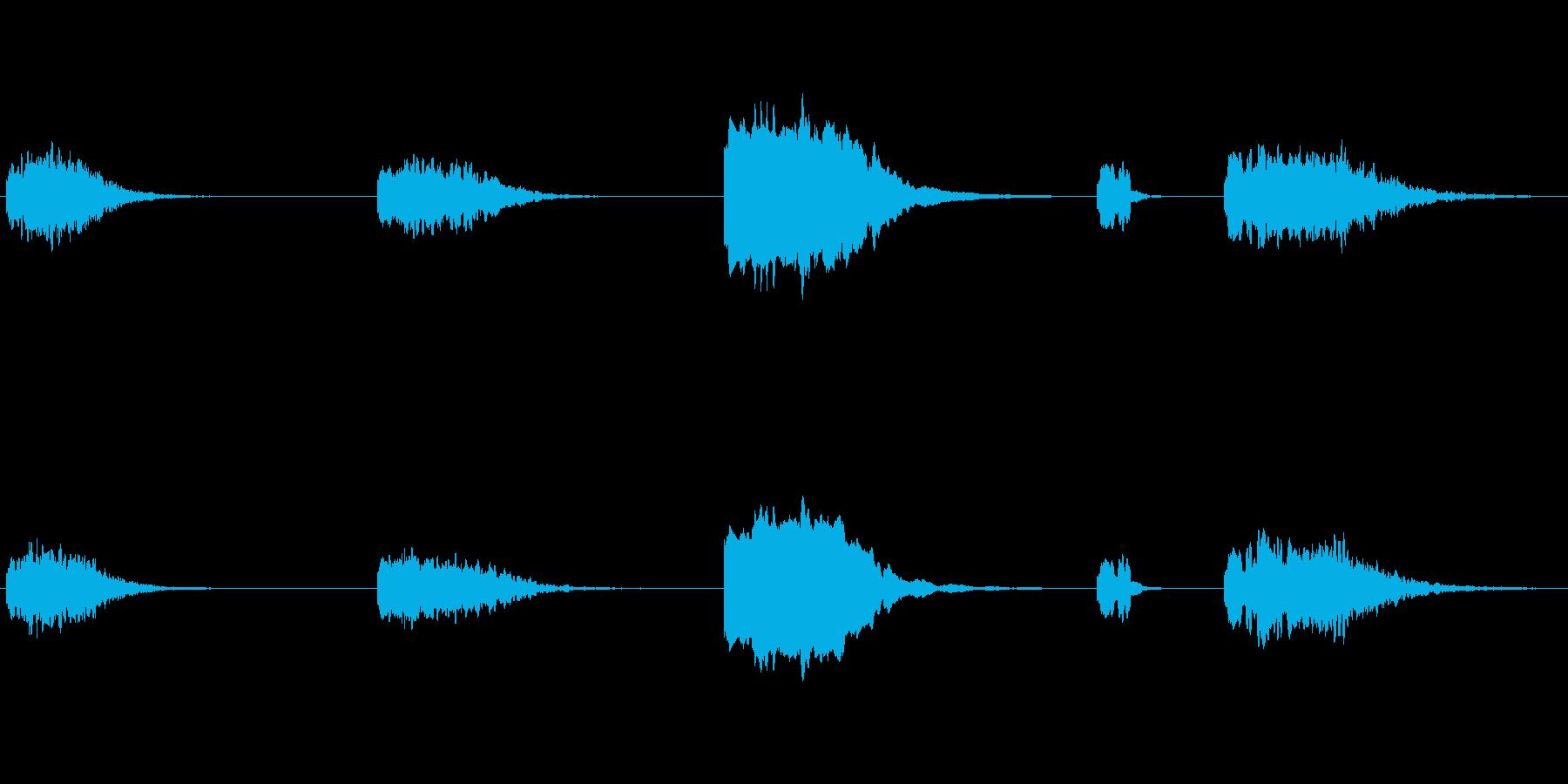 長い減衰のエアホーン。 X5の再生済みの波形