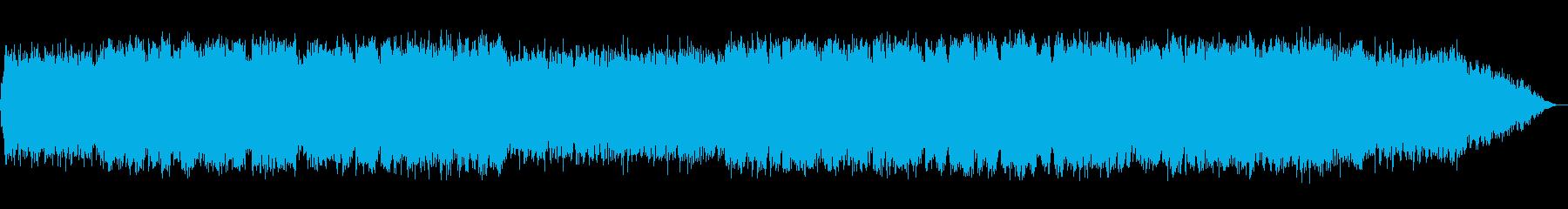 生演奏ケーナの哀愁のある音楽の再生済みの波形