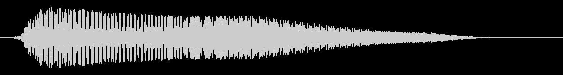 跳ねる様なパワーアップ音の未再生の波形