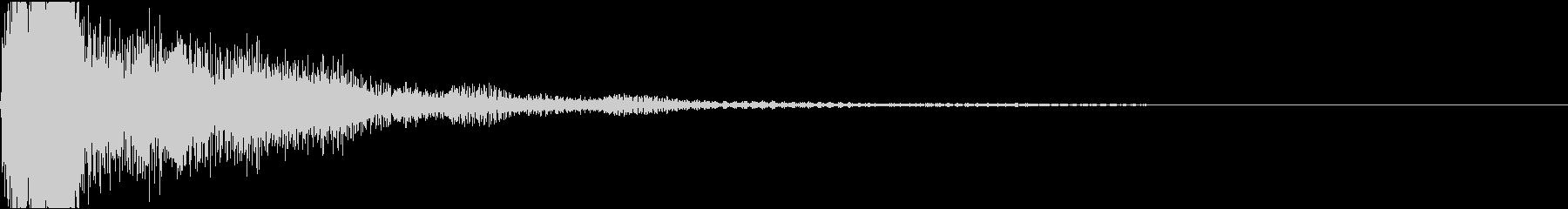 ファ♯/ソ♭単音のオーケストラルヒットの未再生の波形