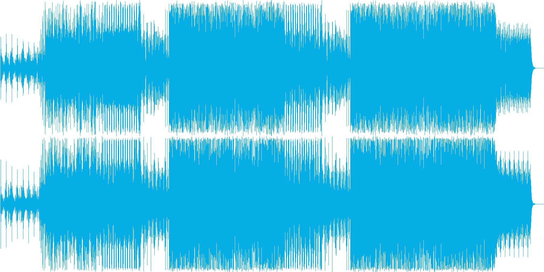 ピアノの気持ちいいジャズの再生済みの波形