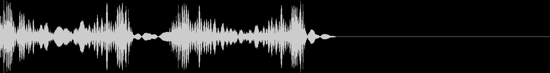 スクラッチ 音 シンプルの未再生の波形