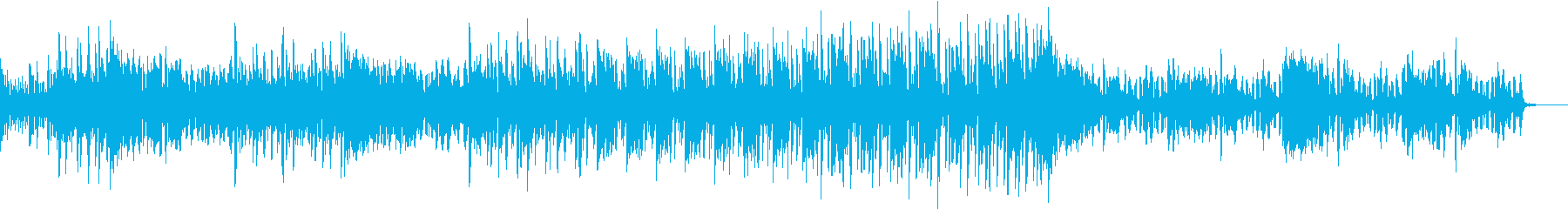 電子音を使った疾走感のあるテクノの再生済みの波形