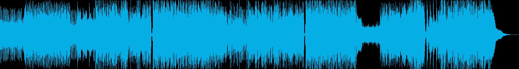 ノリのいいアニメオープニング的曲の再生済みの波形