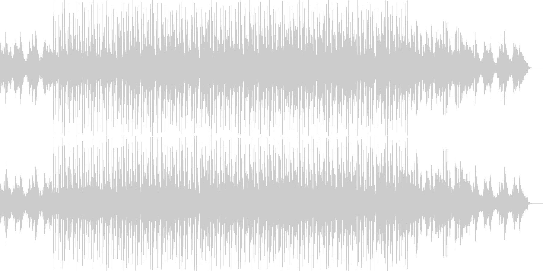 爽やかなピアノがメインのラウンジ系BGMの未再生の波形
