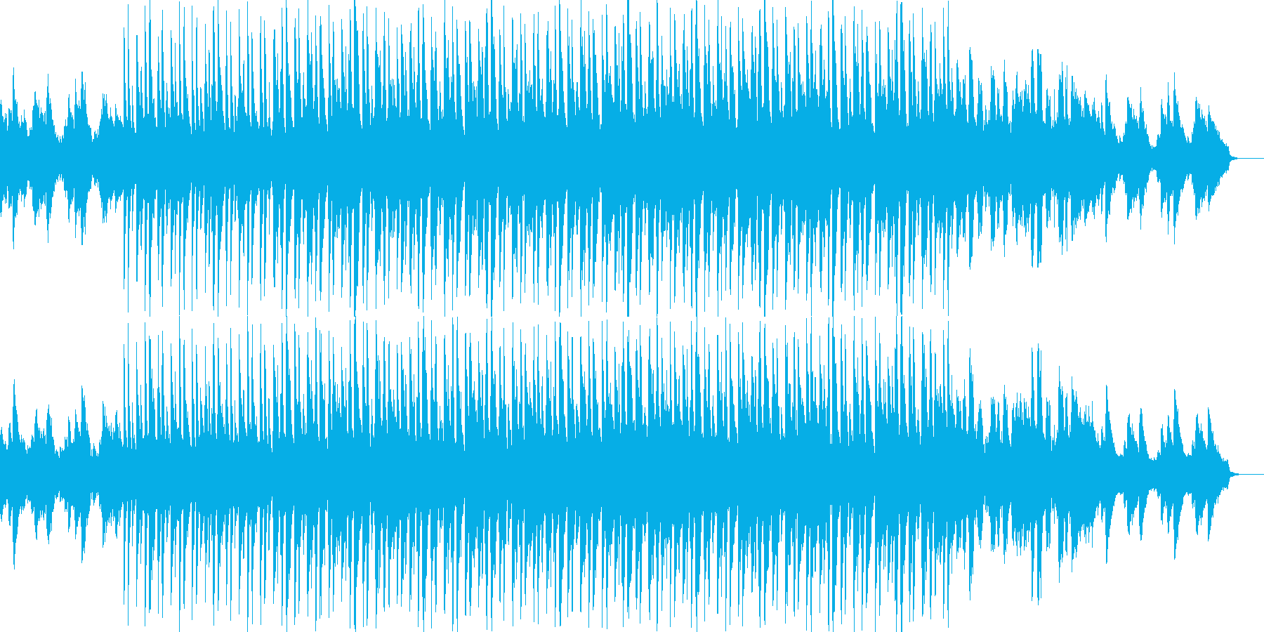 爽やかなピアノがメインのラウンジ系BGMの再生済みの波形