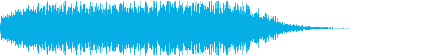 アニメにありそうな爆発音+破片が飛び散るの再生済みの波形