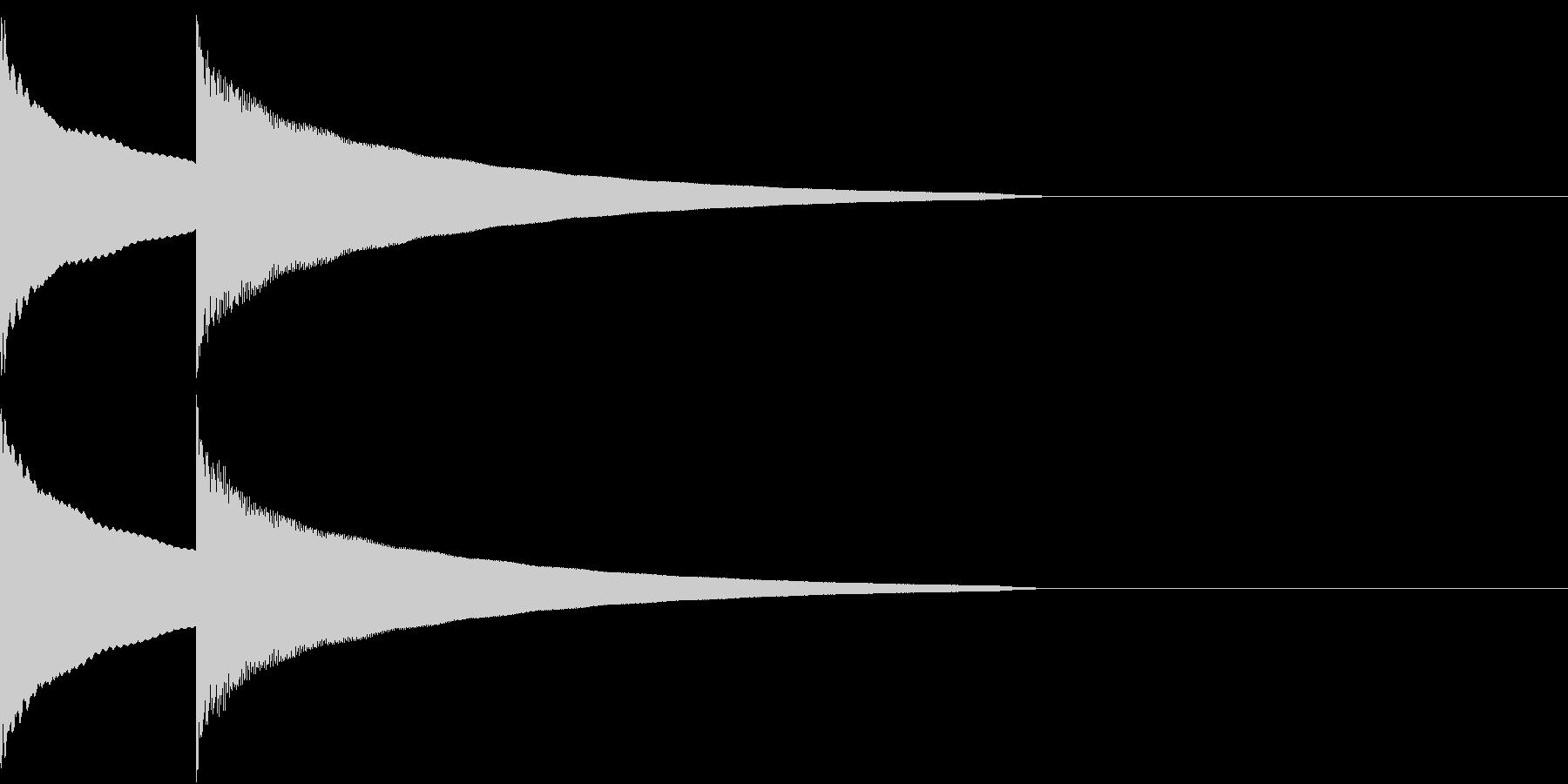 ゆっくりインターホンを押す音の未再生の波形