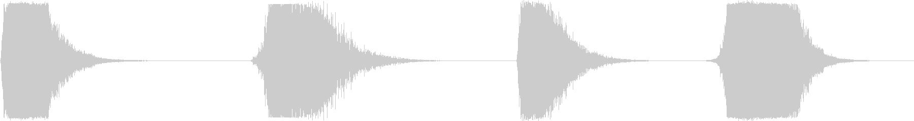 高エネルギー分解レイ、4バージョン...の未再生の波形