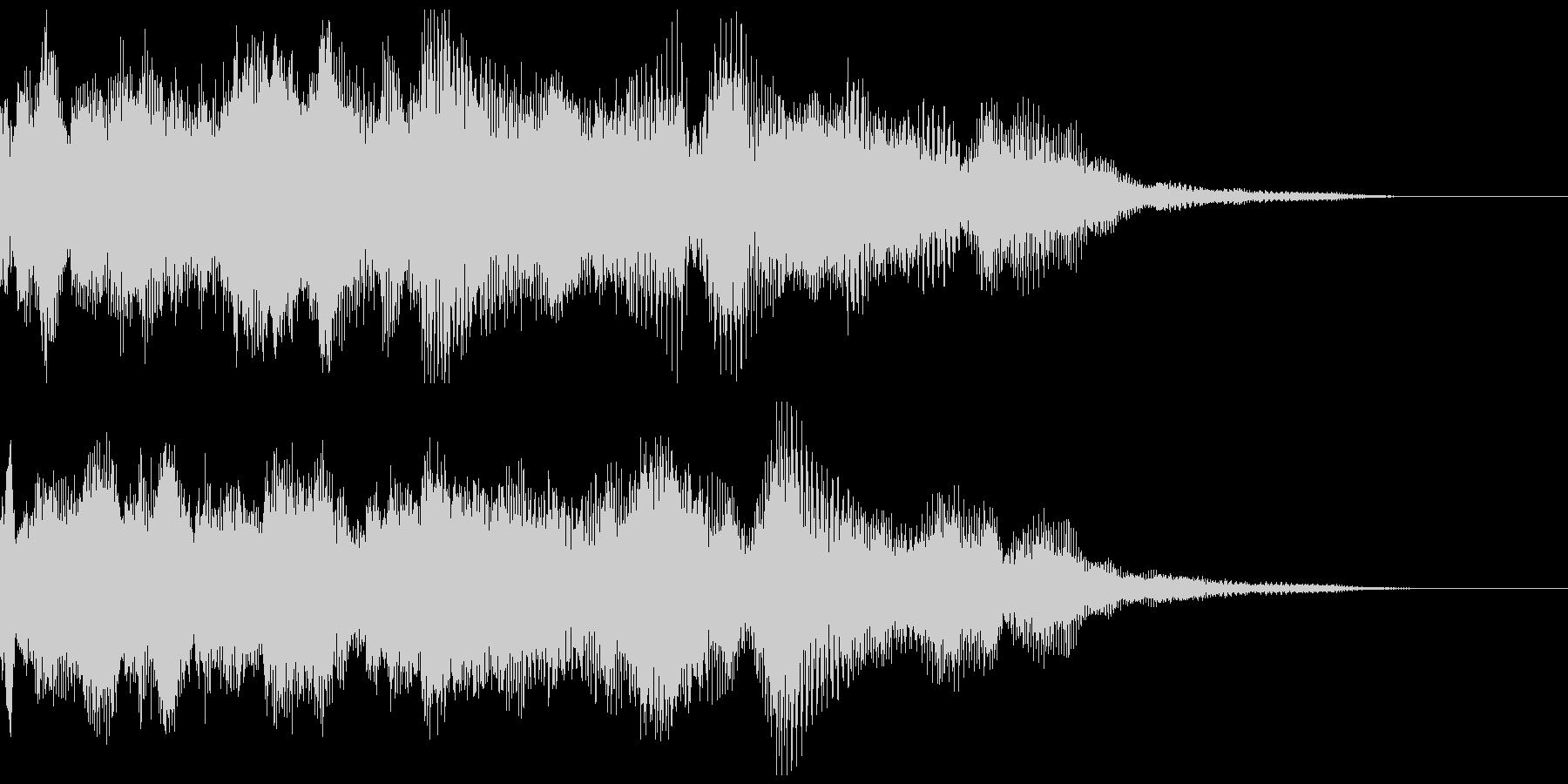 導入演出などに使えるシンセ音の未再生の波形