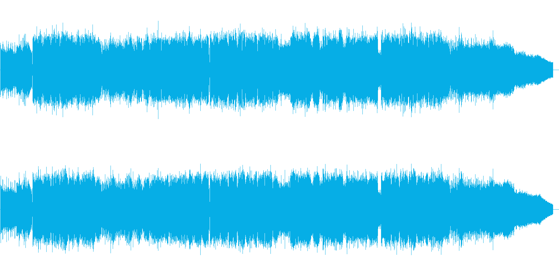 疾走感のある突き抜けるROCKの再生済みの波形