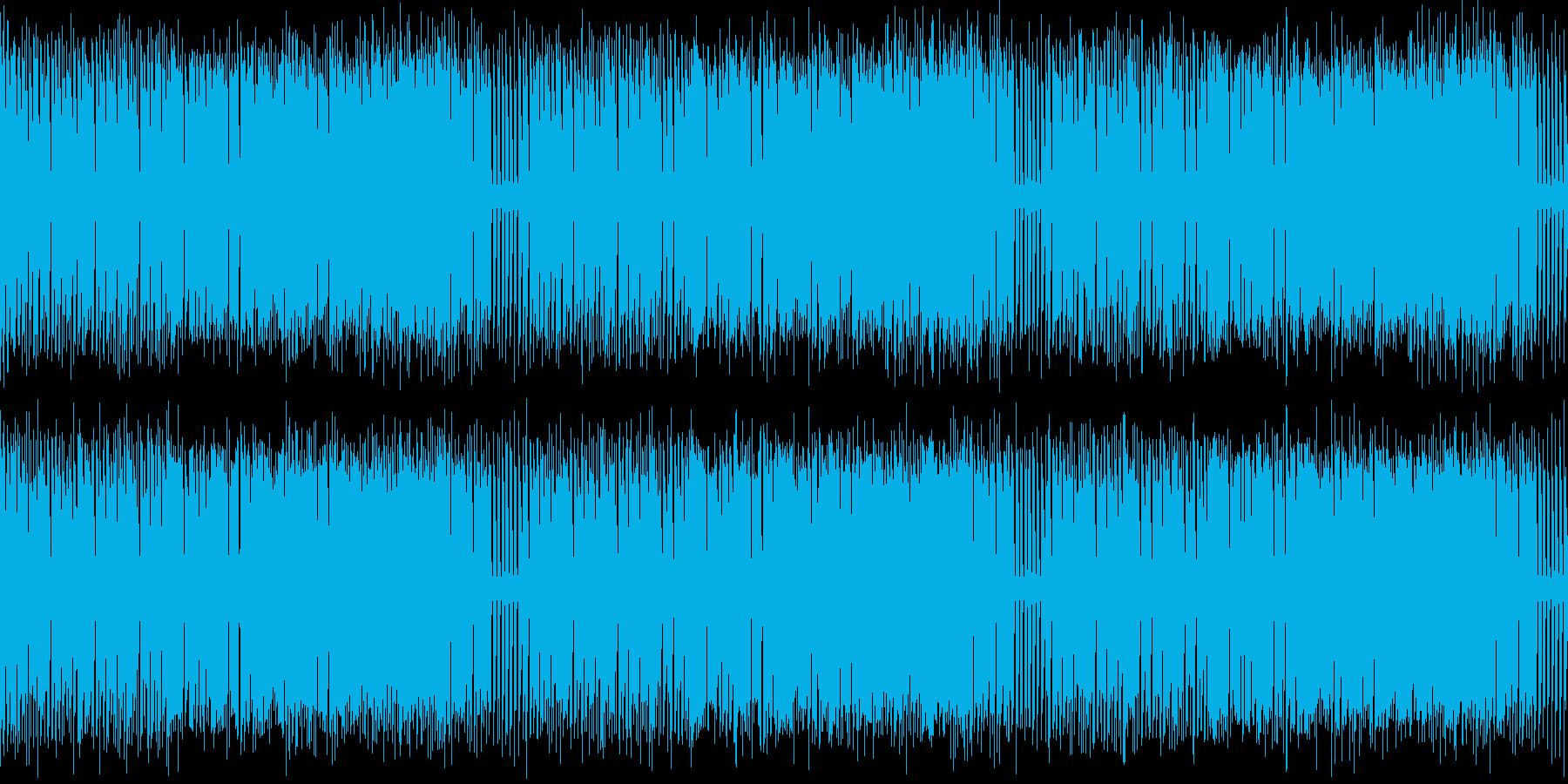 チップチューン・疾走感&緊張感・ループの再生済みの波形
