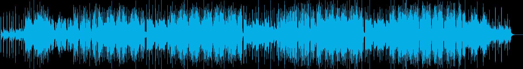 おしゃれなK-POPのトラックの再生済みの波形