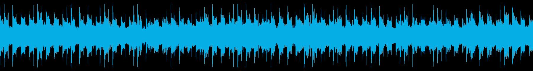怪しげな和風ループの再生済みの波形