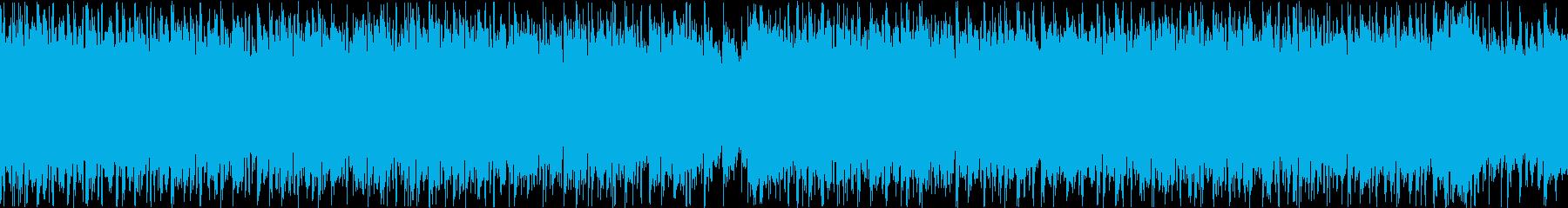 レトロな感じのEDM(Loop)の再生済みの波形
