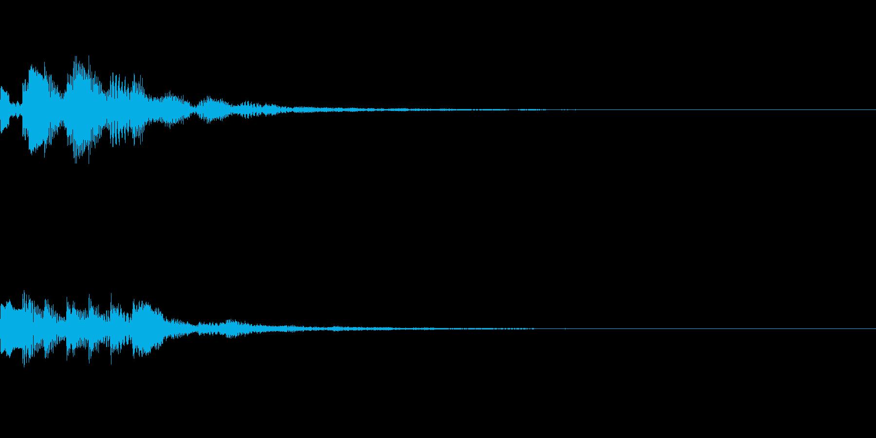 効果音【スタート・獲得・決定・LvUp】の再生済みの波形
