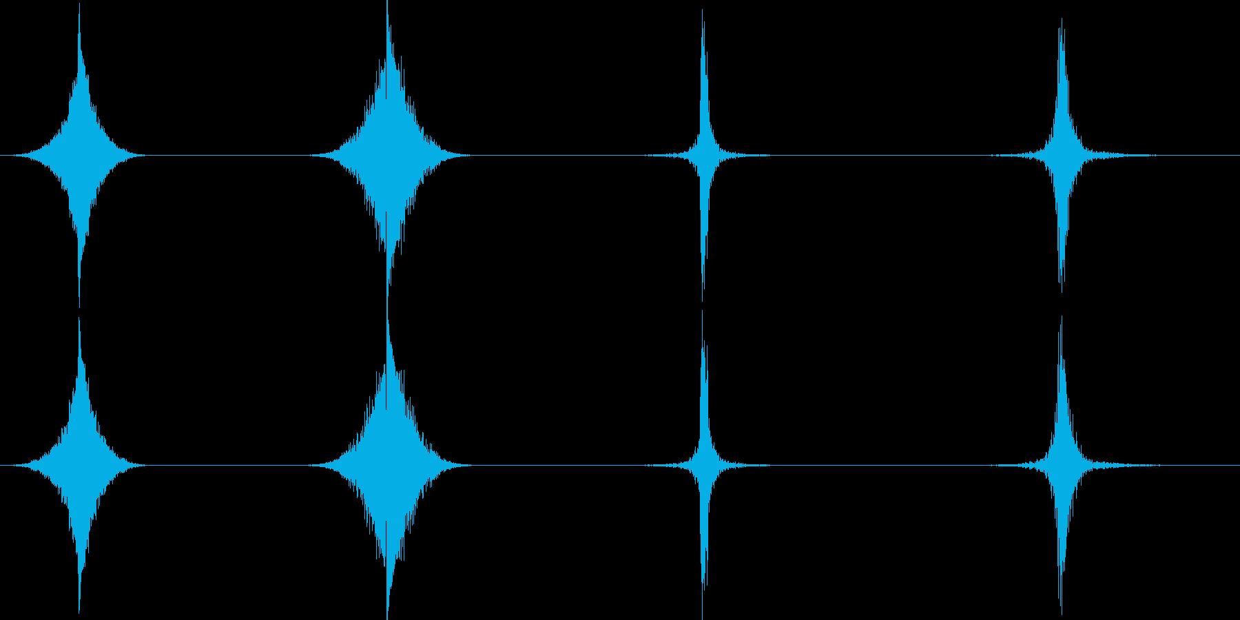 ホイップ、ヒット、インパクト、4バ...の再生済みの波形