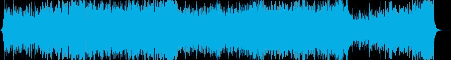 PopなEDMと攻撃的なベースハウスの再生済みの波形