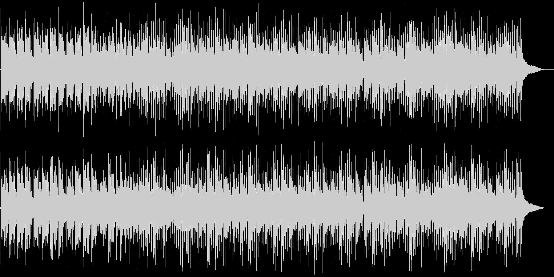 琴の音と低音ビート・日本的な和風BGMの未再生の波形