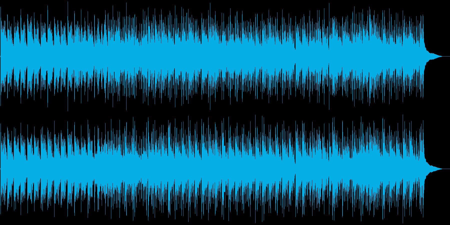 琴の音と低音ビート・日本的な和風BGMの再生済みの波形